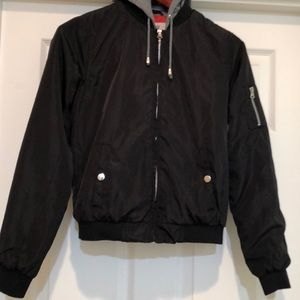 Outer Edge Bomber Hooded Jacket Size S
